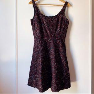 Gap fit and flare star print midi dress size 2